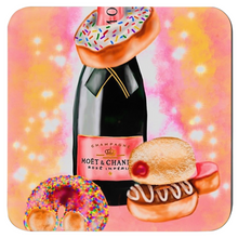 Load image into Gallery viewer, Champagne and Donuts Coasters