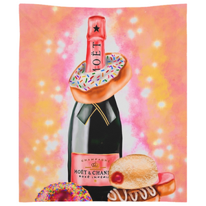 Champagne and Donuts Tapestries