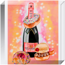 Load image into Gallery viewer, Champagne and Donuts Acrylic Blocks