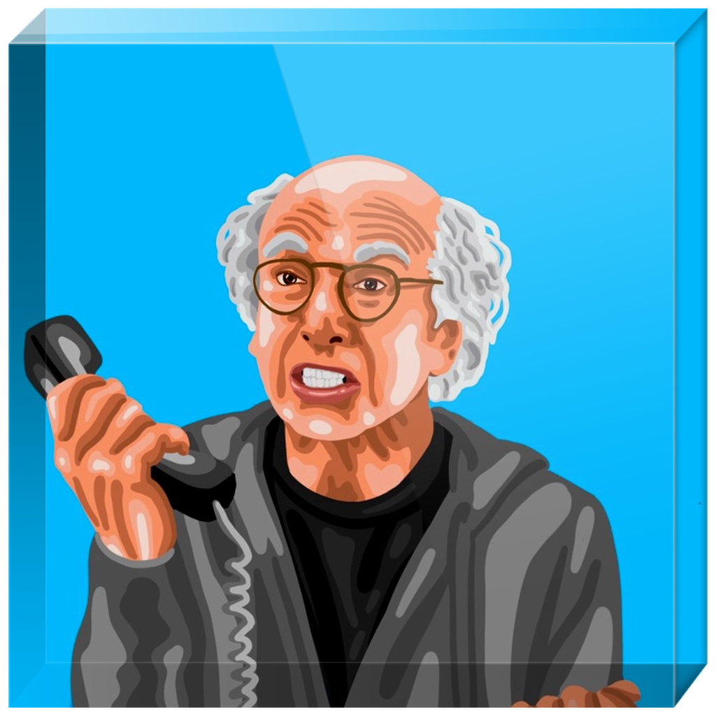 Larry David Acrylic Blocks