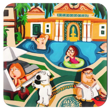 Load image into Gallery viewer, Versace Mansion x Family Guy Coasters