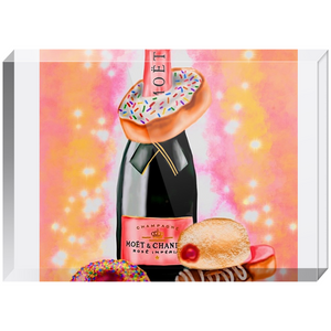 Champagne and Donuts Acrylic Blocks