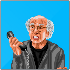 Larry David Metal Prints