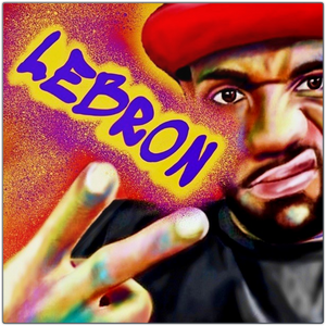 Lebron Metal Prints