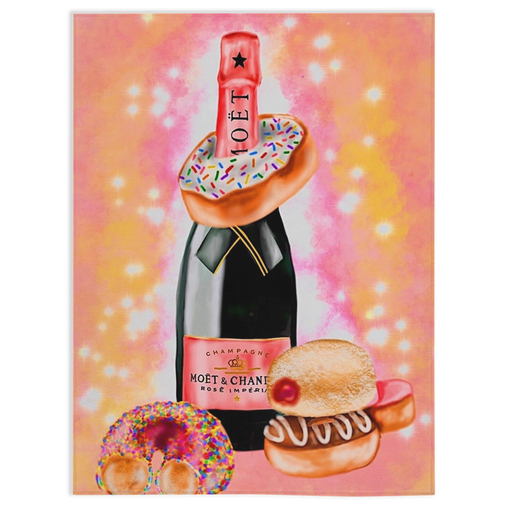 Champagne X Donuts Minky Blankets