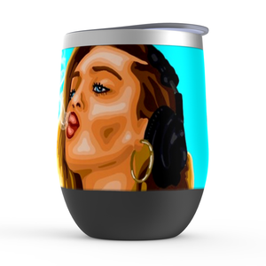 Miley Cyrus Stemless Wine Tumblers