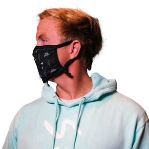 STAY PSYCHED FACE MASK - BLACK
