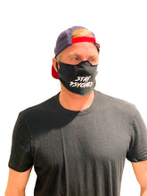 STAY PSYCHED BLACK FACE MASK