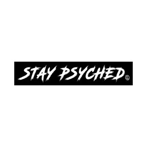 Stay Psyched Team Sticker (BLACK)