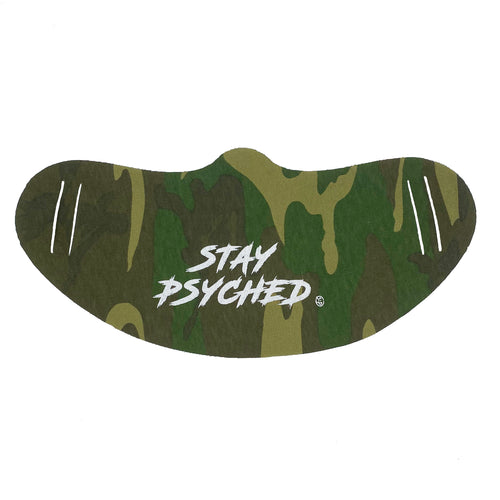 STAY PSYCHED CAMO FACE MASK