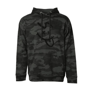 SP FACE HOODIE - BLACK CAMO (MEDIUM WEIGHT)