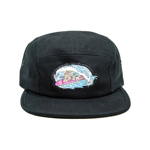 Leisure 5 Panel Hat - Black (PRE-SALE!)
