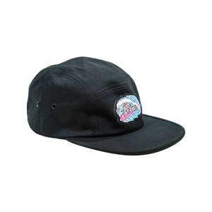 Leisure 5 Panel Hat - Black