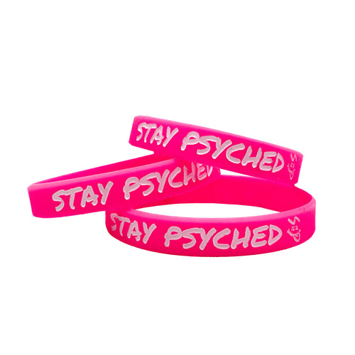 Stay Psyched Wristband - Pink