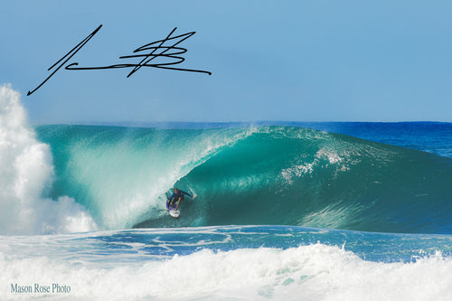 PERFECT PIPELINE BARREL - HAND SIGNED BY JAMIE O'BRIEN