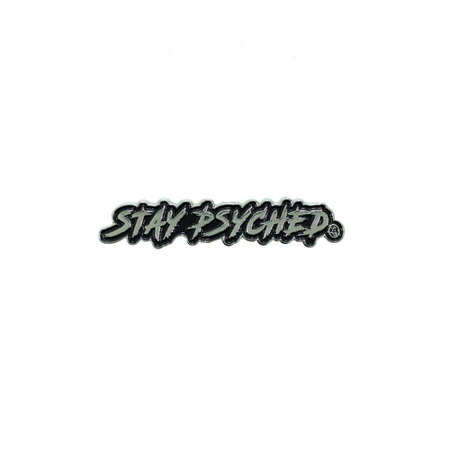 Stay Psyched Pin with SP Logo