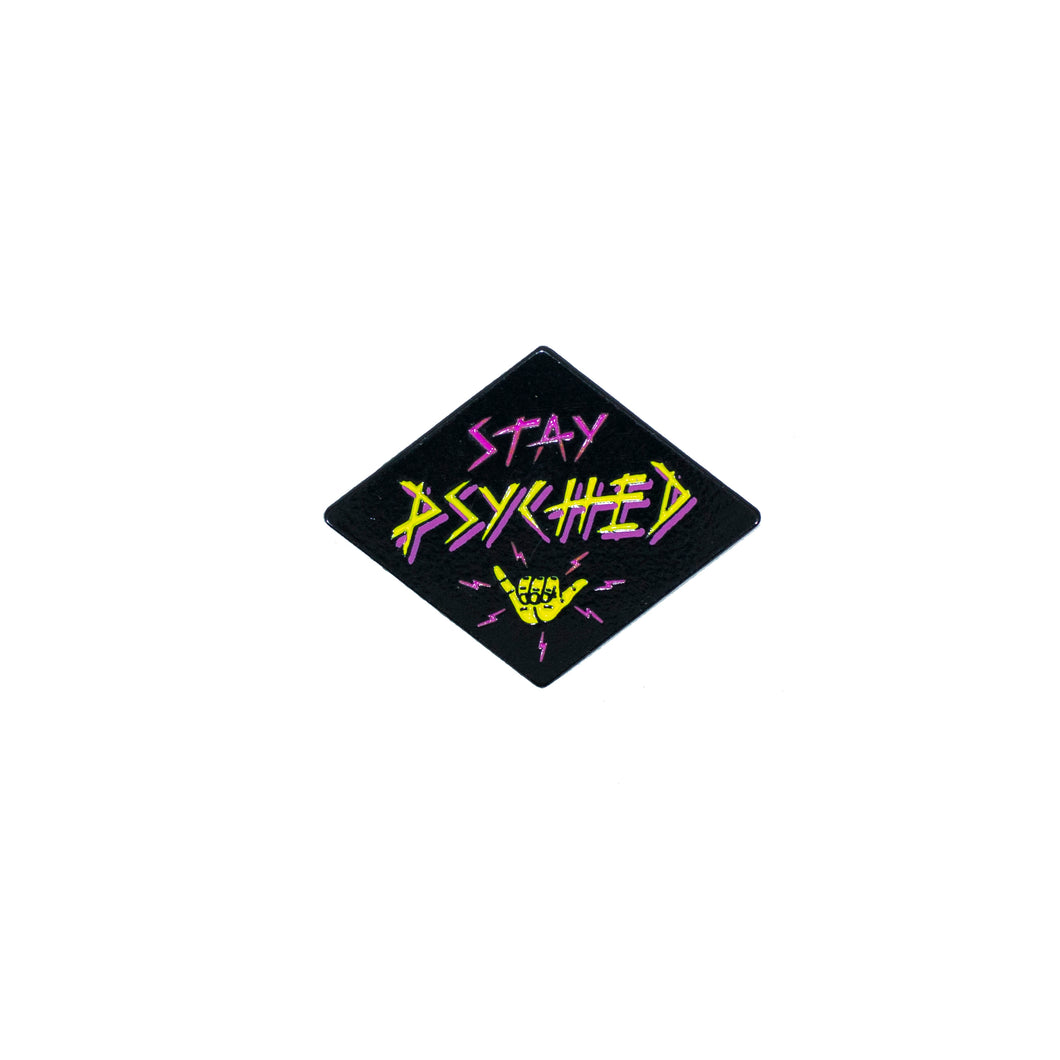Stay Psyched Shaka Pin (Diamond)