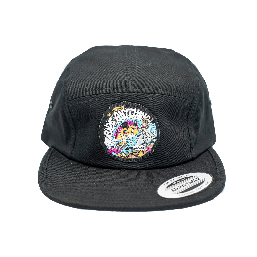 Ride Anything 5 Panel Hat - Black