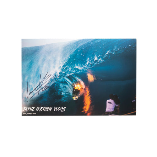 TEAHUPOO FIRE POSTER - HAND SIGNED BY JAMIE O'BRIEN