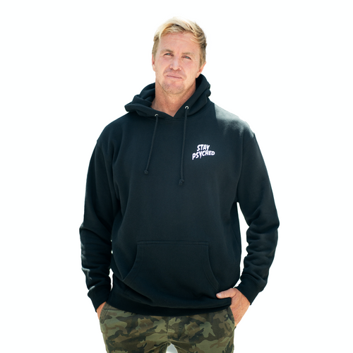 PSYCH COUNTER HOODIE - BLACK (HEAVY WEIGHT)