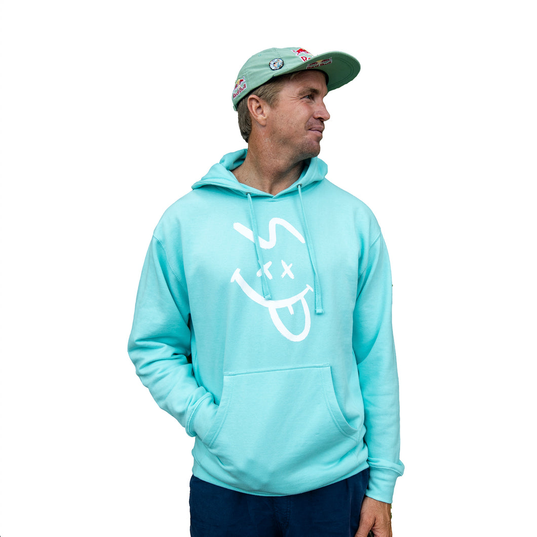SP FACE HOODIE - BLUE (MEDIUM WEIGHT)