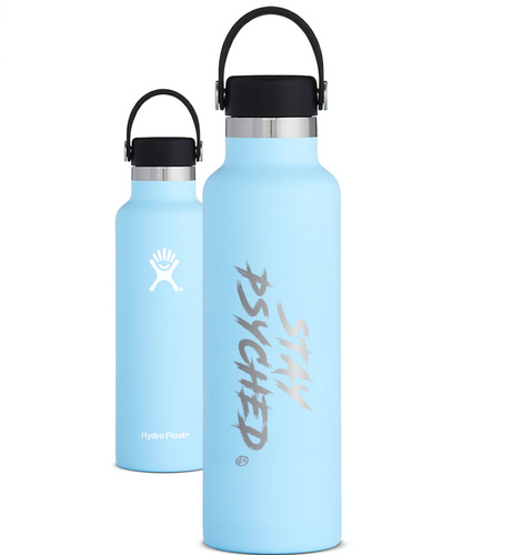 Stay Psyched Hydroflask - FROST (blue)
