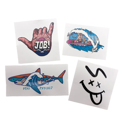 Stay Psyched Temporary Tattoos (4 Pack)