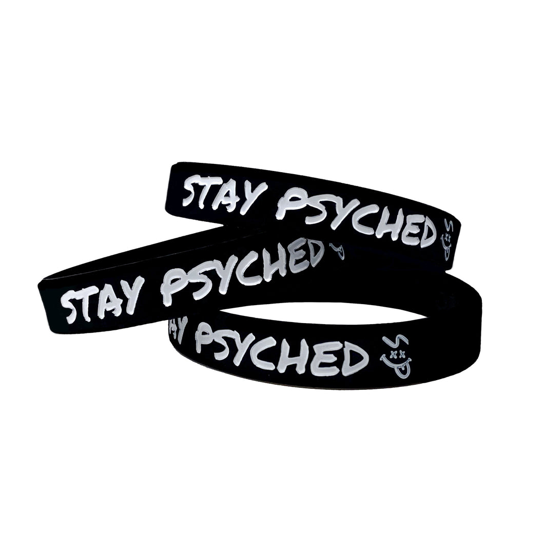 Stay Psyched Wristband - Black