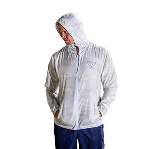 STAY PSYCHED WINDBREAKER - WHITE CAMO