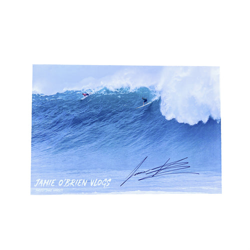 BIG WAIMEA POSTER - HAND SIGNED BY JAMIE O'BRIEN
