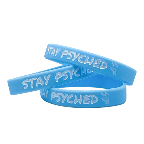 Stay Psyched Wristband - Light Blue