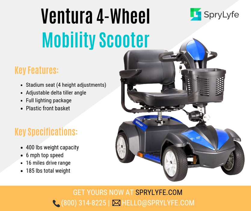 Drive Medical Ventura 4-Wheel Mobility Scooter brochure