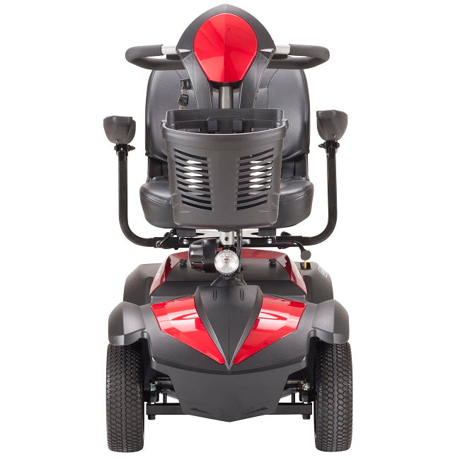 Drive Medical Ventura 4-Wheel Mobility Scooter red front view