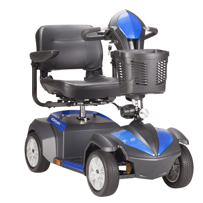 Drive Medical Ventura 4-Wheel Mobility Scooter blue right angle view