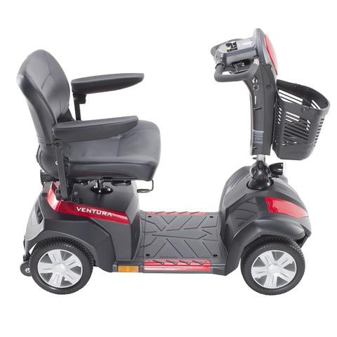 Drive Medical Ventura 4-Wheel Mobility Scooter red right side view