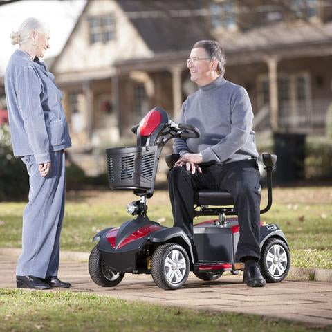 Drive Medical Ventura 4-Wheel Mobility Scooter with a patient