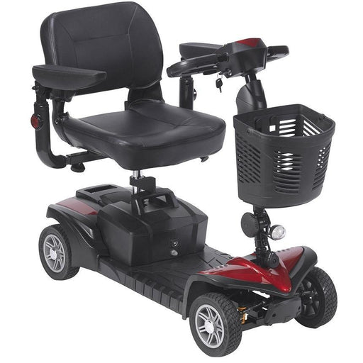 Drive Medical Spitfire DST 4-Wheel Travel Scooter angle view