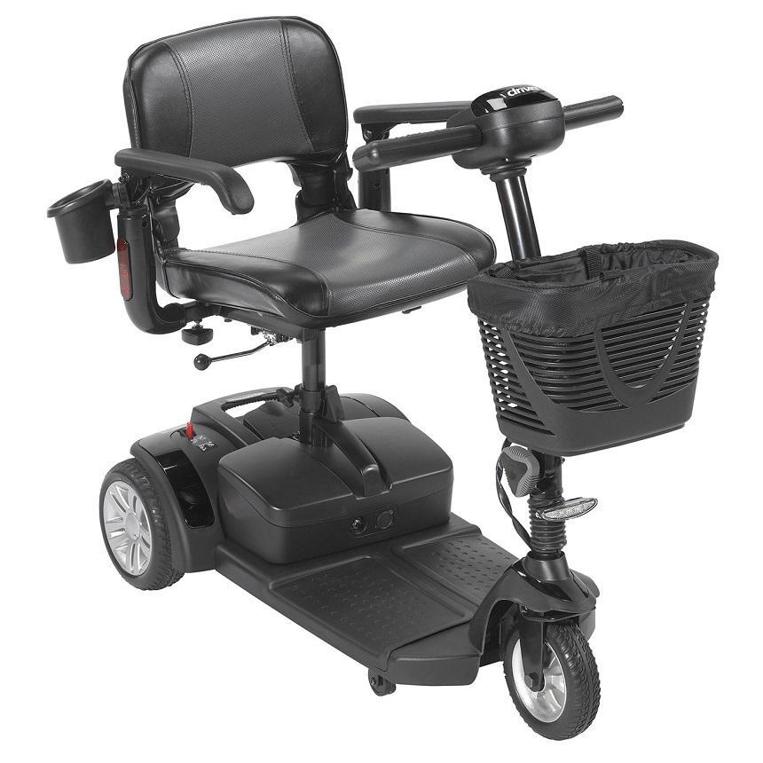 Drive Medical Spitfire EX2 3-Wheel Travel Scooter black