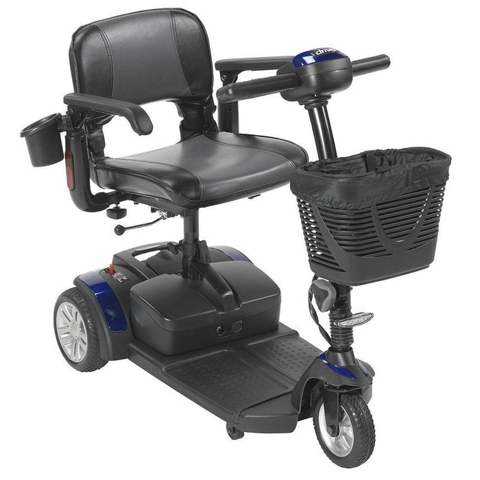 Drive Medical Spitfire EX2 3-Wheel Travel Scooter blue