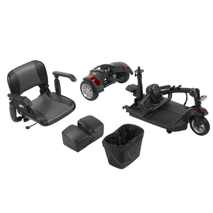 Drive Medical Spitfire EX2 3-Wheel Travel Scooter disassembled