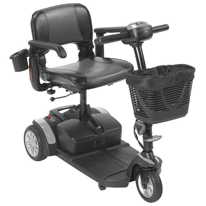 Drive Medical Spitfire EX2 3-Wheel Travel Scooter gray
