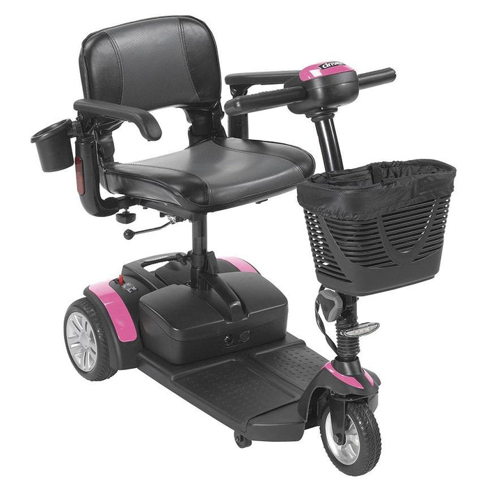 Drive Medical Spitfire EX2 3-Wheel Travel Scooter pink