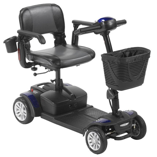 Drive Medical Spitfire EX2 4-Wheel Travel Scooter blue