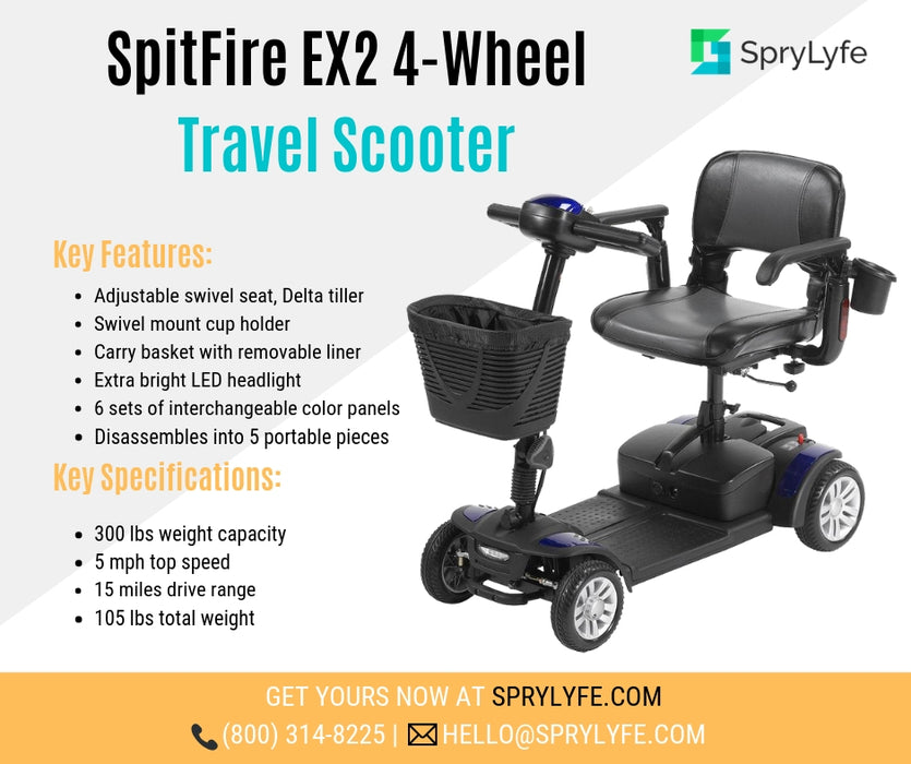 Drive Medical Spitfire EX2 4-Wheel Travel Scooter brochure