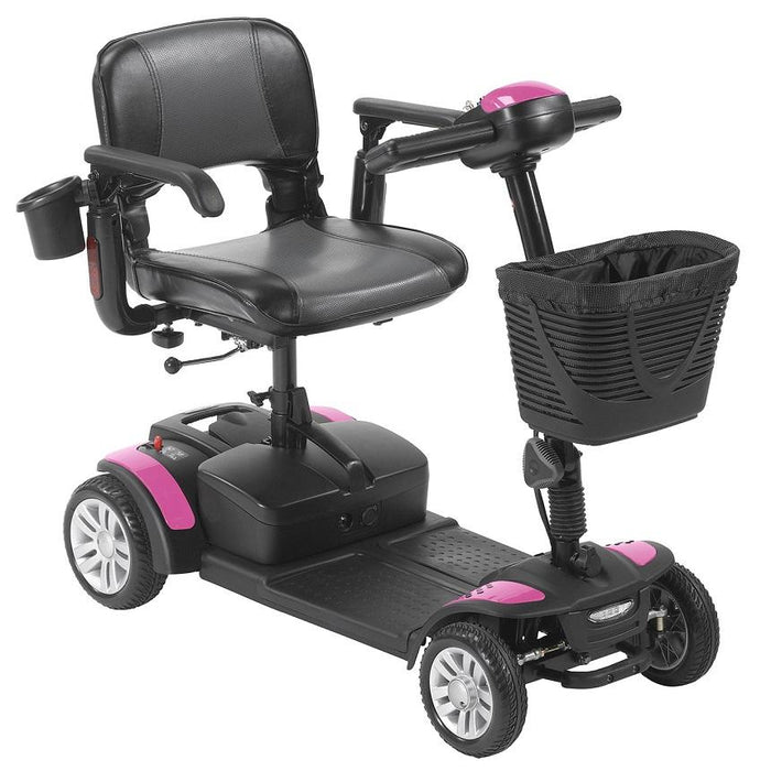 Drive Medical Spitfire EX2 4-Wheel Travel Scooter pink