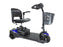 Spitfire Scout 3-Wheel Extended Range Travel Scooter blue right angle view