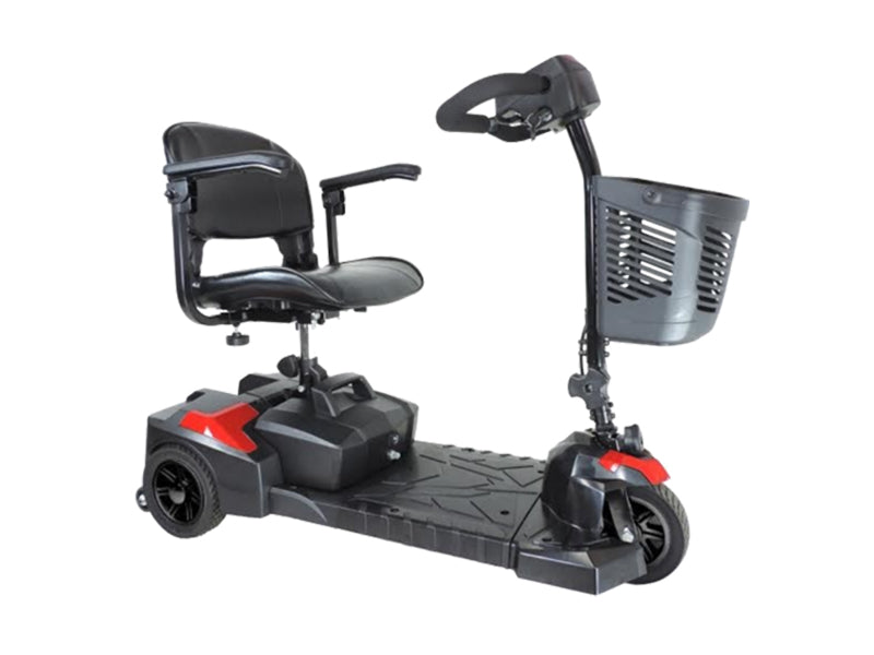 Spitfire Scout 3-Wheel Extended Range Travel Scooter red right angle view