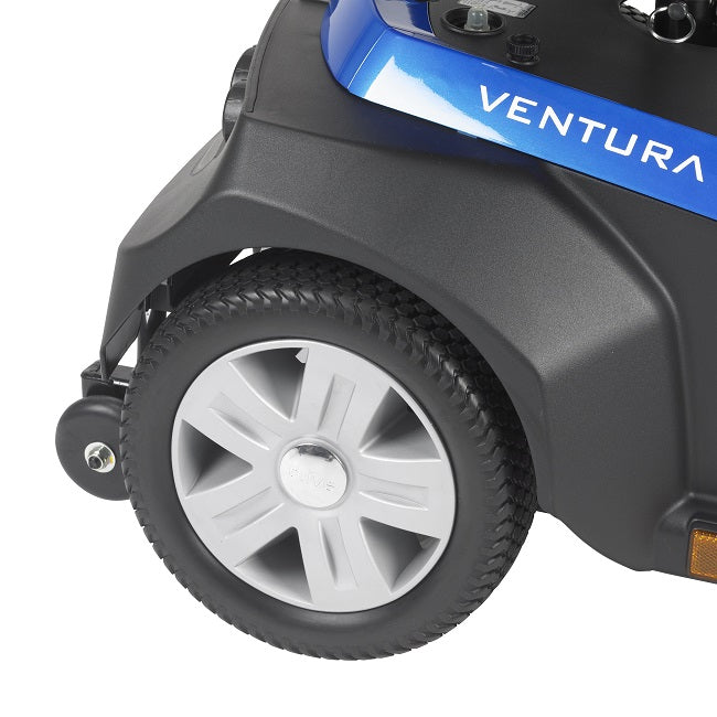 Drive Medical Ventura 3-Wheel Mobility Scooter rear wheel and anti-tip wheel