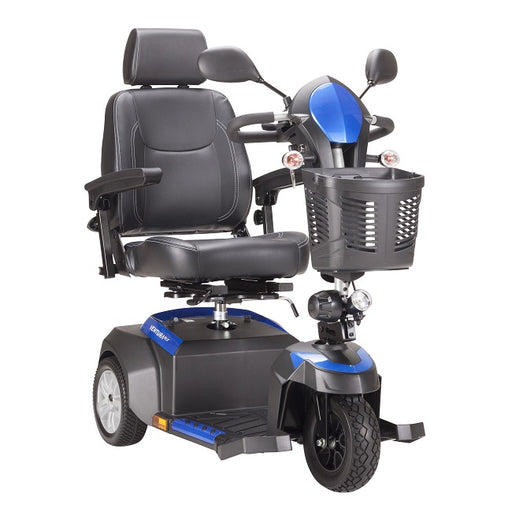 Drive Medical Ventura DLX 3-wheel mobility scooter right angle view