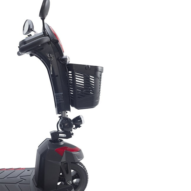 Drive Medical Ventura DLX 3-wheel mobility scooter tiller side view